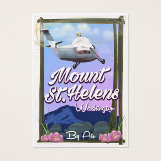 Mount St. Helens Washington Travel poster Business Card