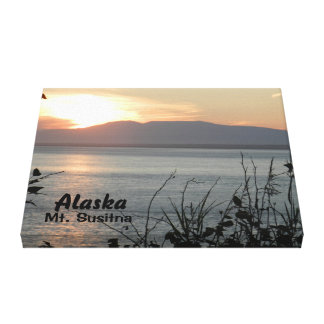 Mount Susitna Sunset Canvas Print