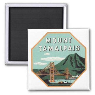 Mount Tamalpais Luggage Label Square Magnet
