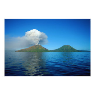 Mount Tarvurvur Eruption in Papua New Guinea Photo Print
