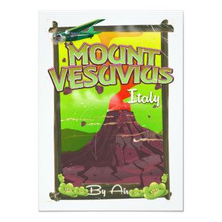 Mount Vesuvius Italian cartoon volcano Card