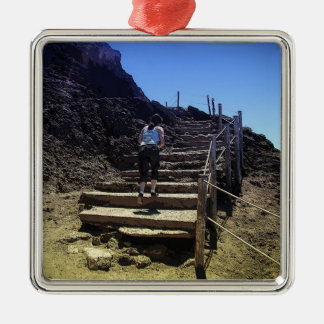 Mount Vesuvius Metal Ornament