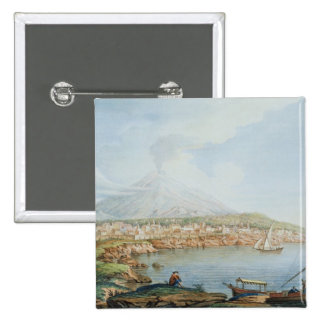 Mount Vesuvius, plate 36 from 'Campi Phlegraei: Ob 15 Cm Square Badge