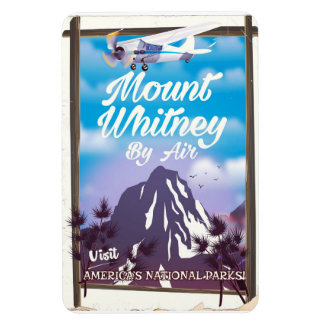 Mount Whitney, Classic California Travel poster Magnet