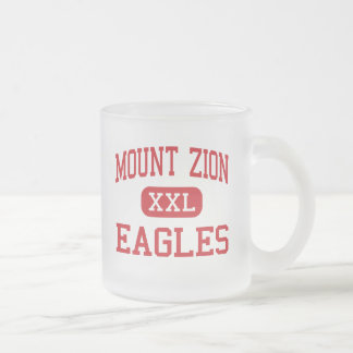 Mount Zion - Eagles - High - Mount Zion Georgia Frosted Glass Coffee Mug