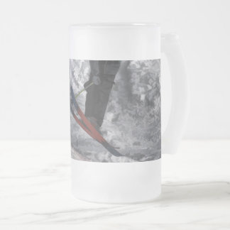 Mountain Air   -  Downhill Skier Frosted Glass Beer Mug