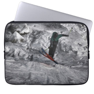 Mountain Air   -  Downhill Skier Laptop Sleeve