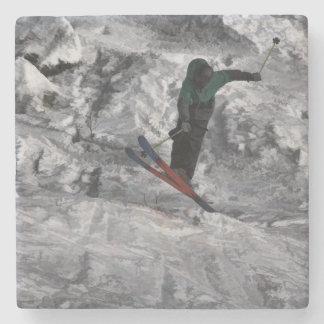 Mountain Air   -  Downhill Skier Stone Coaster