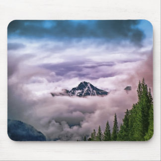 Mountain and clouds. Beautiful nature scenery Mouse Pad