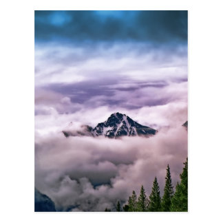 Mountain and clouds. Beautiful nature scenery Postcard