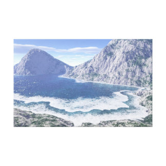 Mountain and sea canvas wall hanging stretched canvas print