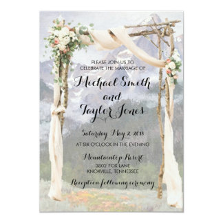 Mountain Arbor Park Outside Wedding Invitation