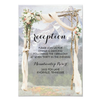Mountain Arbor Park Outside Wedding Reception Card