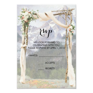 Mountain Arbor Park Outside Wedding RSVP Card