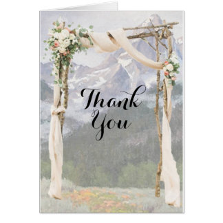 Mountain Arbor Park Outside Wedding Thank You Card