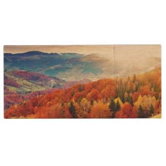 Mountain autumn forest landscape wood USB 2.0 flash drive