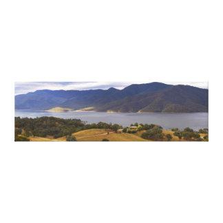 Mountain Bay Panorama 2 Canvas Prints