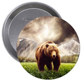 Mountain Bear 10 Cm Round Badge