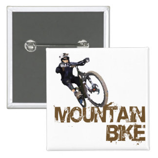 Mountain Bike 15 Cm Square Badge