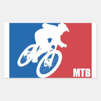 Mountain Bike All-Star Rectangular Sticker