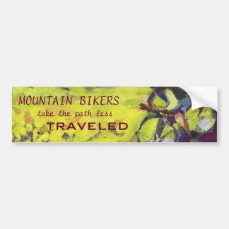 Mountain Bike Bumber Sticker Bumper Sticker