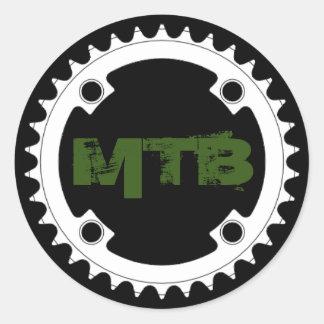 Mountain bike chainring classic round sticker