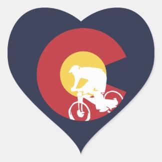 Mountain Bike Colorado Heart Sticker