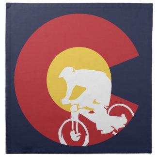 Mountain Bike Colorado Napkin