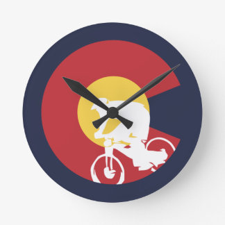 Mountain Bike Colorado Round Clock