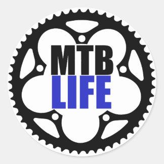 Mountain Bike Life Classic Round Sticker