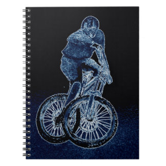 Mountain bike Llandegla mtb bmx Spiral Notebook