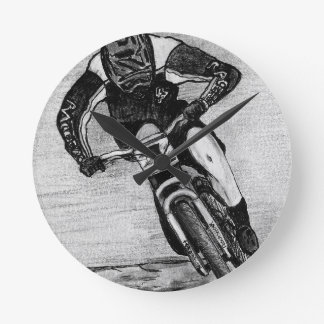 Mountain Bike Ride Round Clock