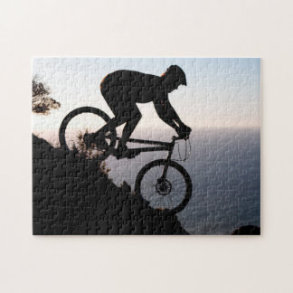 Mountain Bike Rider. Lions Head, Cape Town Jigsaw Puzzle