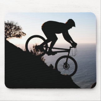 Mountain Bike Rider. Lions Head, Cape Town Mouse Pad