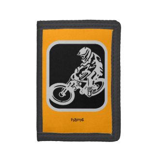 Mountain bike rider tri-fold wallet