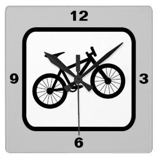 Mountain Bike Sports Theme Square Wall Clock