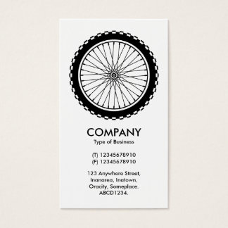 Mountain Bike Wheel Business Card