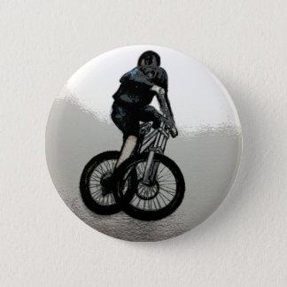 Mountain Biker MTB BMX CYCLIST 6 Cm Round Badge