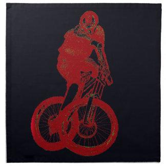 Mountain Biker MTB BMX CYCLIST Napkin