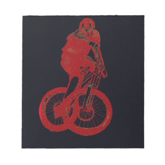 Mountain Biker MTB BMX CYCLIST Notepad