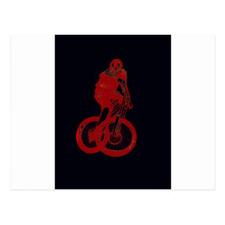 Mountain Biker MTB BMX CYCLIST Postcard