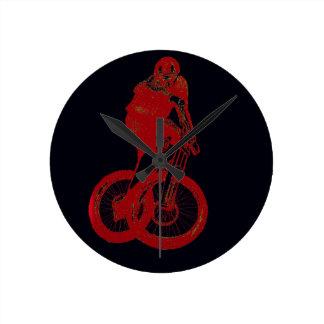 Mountain Biker MTB BMX CYCLIST Round Clock