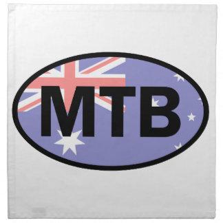 Mountain Biking Australia Flag Napkin