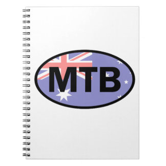 Mountain Biking Australia Flag Notebooks