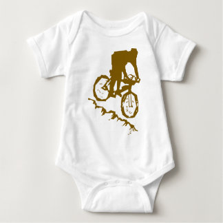 Mountain Biking Bicycle Baby Bodysuit