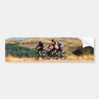 MOUNTAIN BIKING BUMPER STICKER