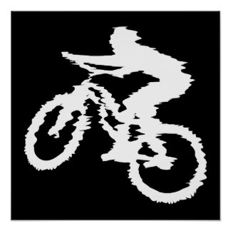 Mountain Biking Fast Poster