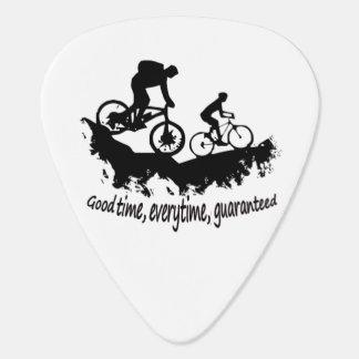 Mountain Biking Good Time Inspirational Quote Plectrum