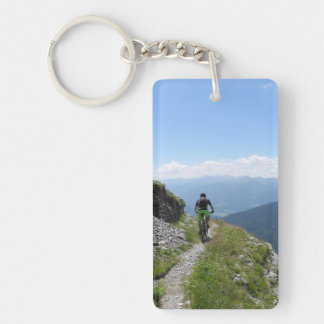 Mountain Biking Key Ring