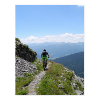 Mountain Biking Postcard